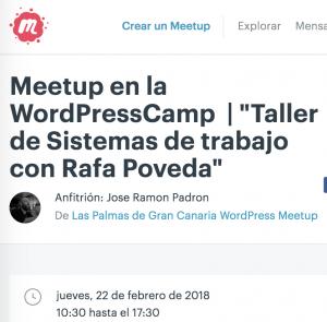 Meetup Gran Canaria WPES Camp